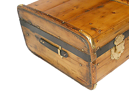 Antique Trunk Coffee Table For Sale